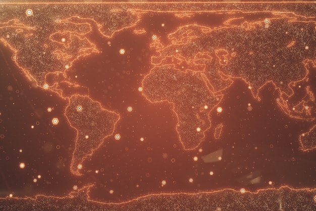 Fond de carte du monde global