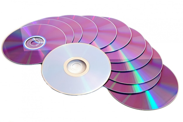 Fond de cd, fond blanc