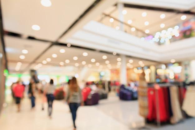 Fond de centre commercial flou