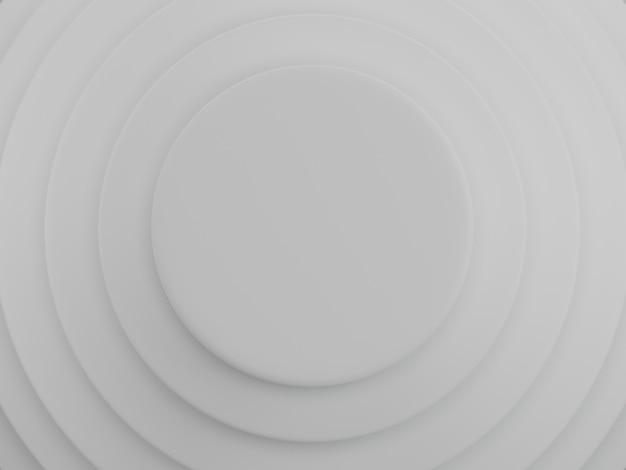 Fond de cercles blancs. modèle abstrait pour page web, modèle, arrière-plan ou couverture de brochure. rendu 3d.