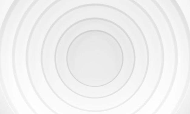 Fond de cercles blancs. modèle abstrait pour la page web, le modèle, l'arrière-plan ou la couverture de la brochure. rendu 3d.
