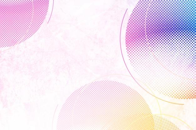 Fond de cercles colorés