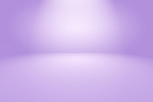Fond de chambre studio violet dégradé de lumière vide abstrait pour le produit.