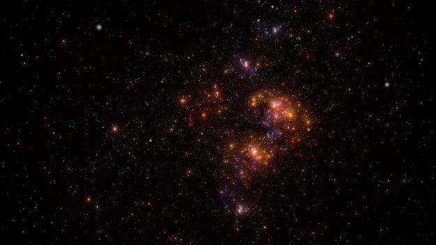 Fond de champ étoile. texture de fond de l'espace extra-atmosphérique étoilé