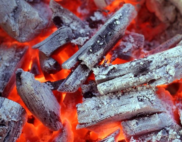 Fond de charbon de bois