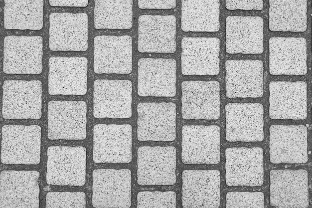 Fond de chaussée pavée de granit.