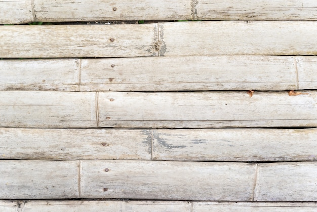 Fond de chemin en bois de bambou.