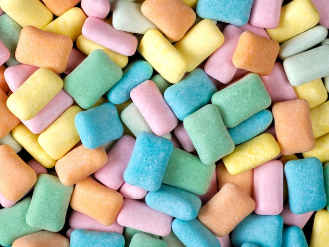 fond de chewing-gum coloré abstrait