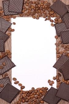 Fond de chocolat en grains de café