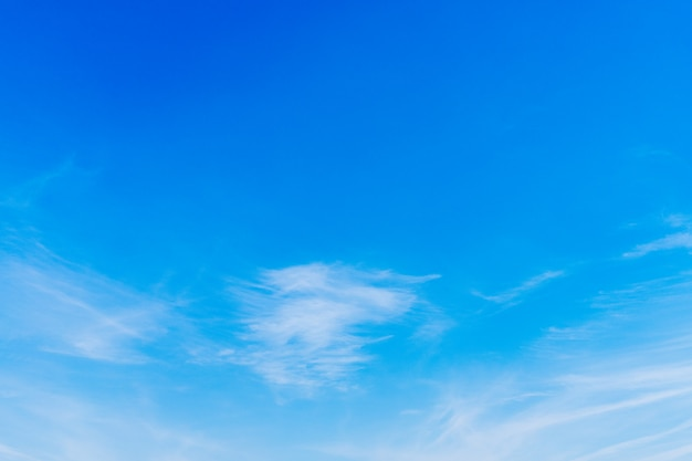 Le fond de ciel bleu est brillant et beau le matin.