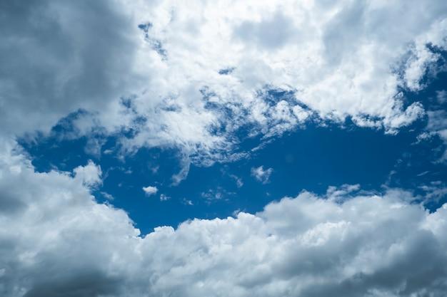 Fond de ciel bleu avec des nuages dans la journée