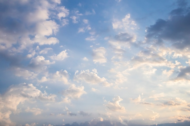 Fond de ciel du matin
