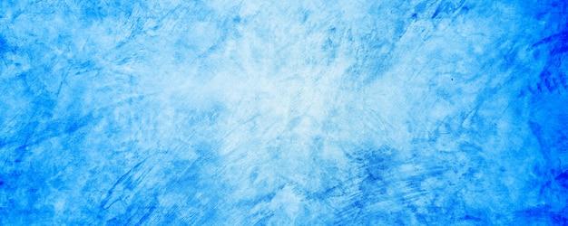 Fond de ciment et de béton dégradé bleu doux et foncé