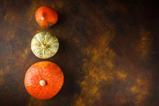 Fond citrouille automne