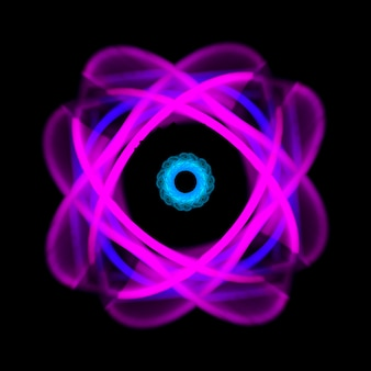 Fond clair au néon abstrait