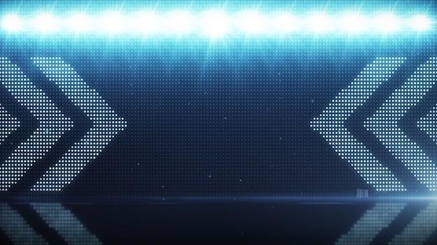 Fond clair vacillant avec des flèches. toile de fond numérique abstraite. rendu 3d de la technologie.