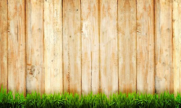 Fond de clôture en bois