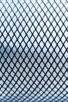 Fond de clôture métallique à l'extérieur