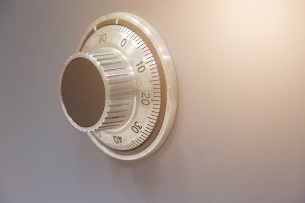 Fond de code de sécurité du mécanisme en acier