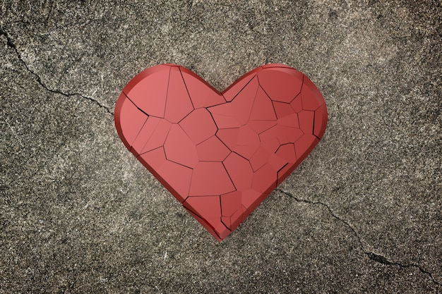 Fond de coeur brisé