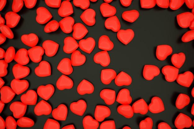 Fond de coeur épars, fond de saint-valentin