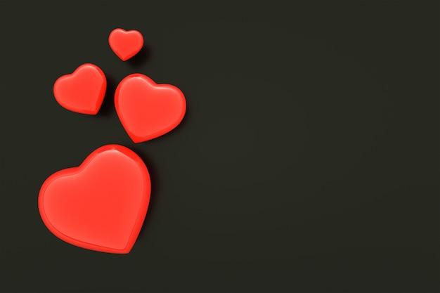 Fond de coeur rouge, fond de saint valentin