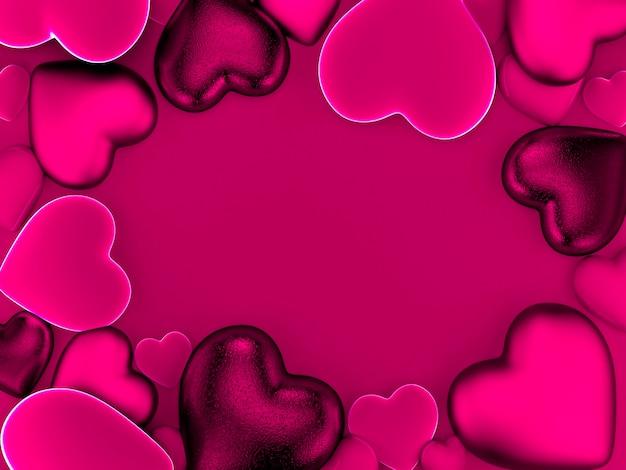 Fond de coeurs de la saint-valentin en rose