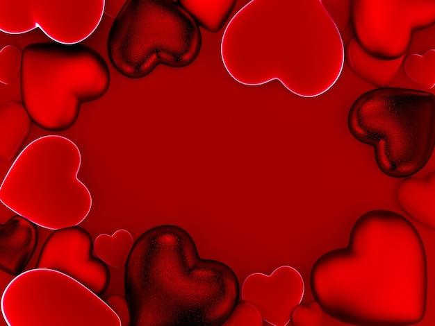 Fond de coeurs de la saint-valentin en rouge