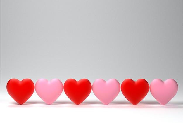 Fond de coeurs de saint valentin
