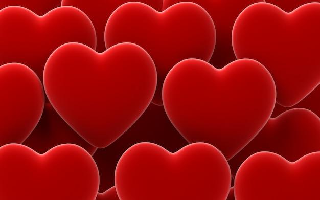 Fond de coeurs de velours saint valentin rouge