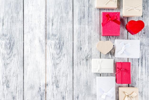 Fond de coffrets cadeaux saint valentin