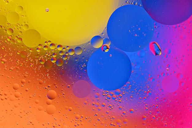 Fond coloré de bulles colorées, texture tendance