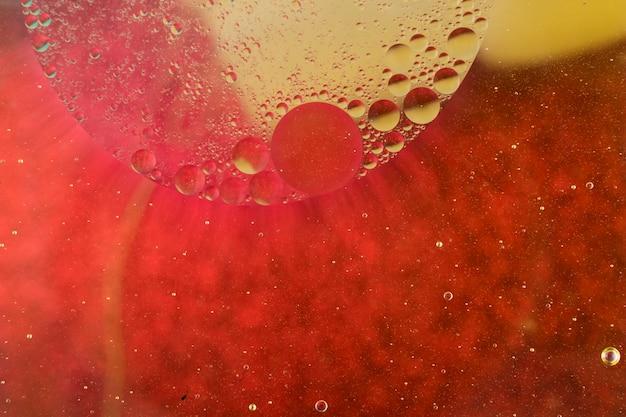 Fond coloré avec des bulles d'huile
