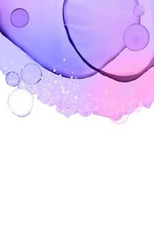 Fond coloré avec de l'encre d'alcool