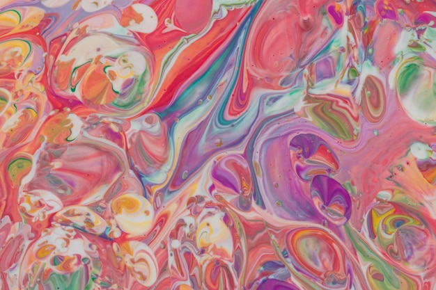 Fond coloré multicolore en coulant acrylique