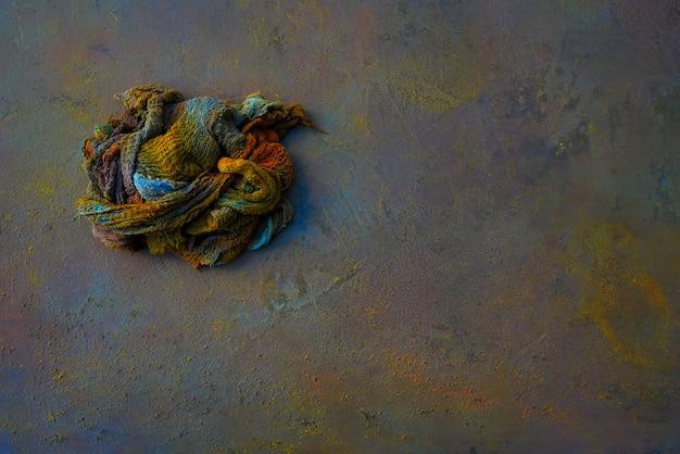 Fond coloré d'oxyde de chiffon peint