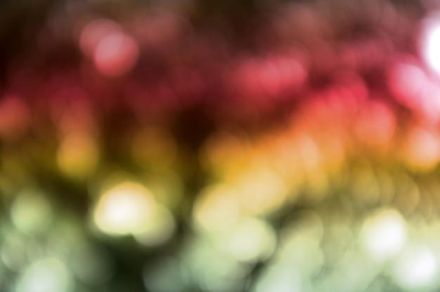 Fond coloré avec texture naturelle de bokeh et lumières scintillantes défocalisées