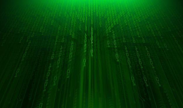 Fond de concept futur technologie cyber circuit vert