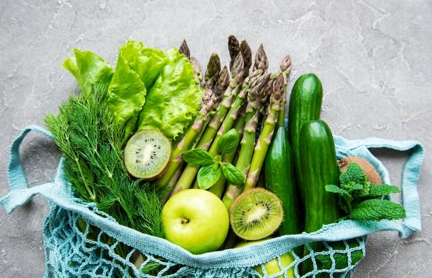 Fond de concept de nourriture végétarienne saine