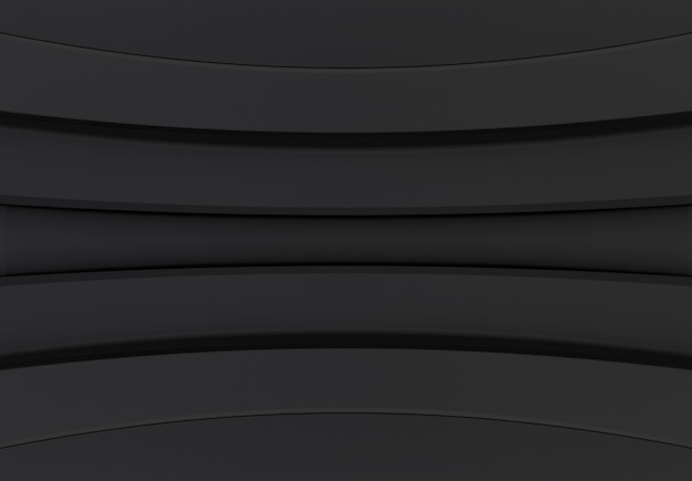 Fond de conception moderne courbe panneau sombre mur.