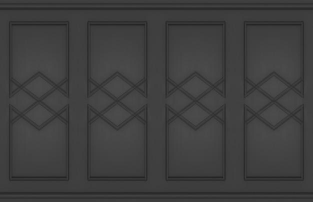 Fond de conception de mur classique de luxe moderne sombre.