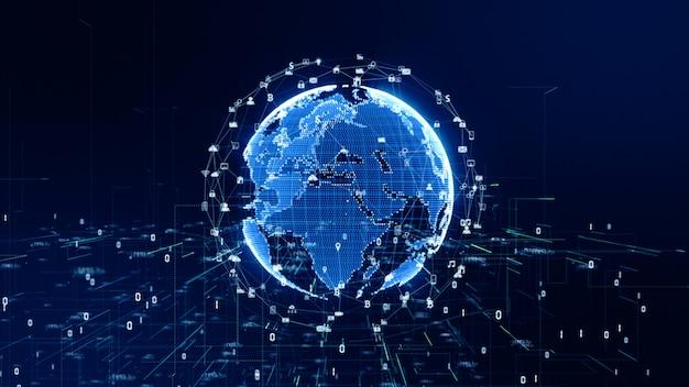 Fond de connexion de données de réseau technologique