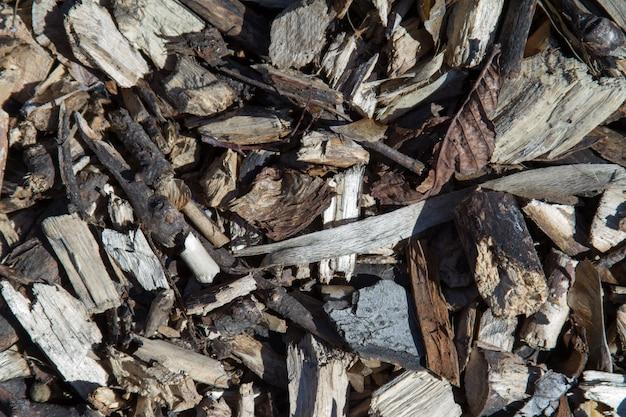 Fond de copeaux de bois avec vignette