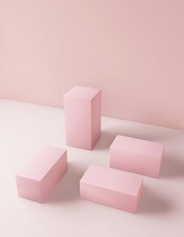 Fond cosmétique couleur rose pour la présentation du produit
