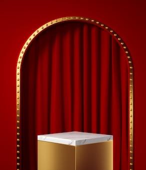 Fond cosmétique pour l'affichage du podium de présentation du produit sur fond de sable