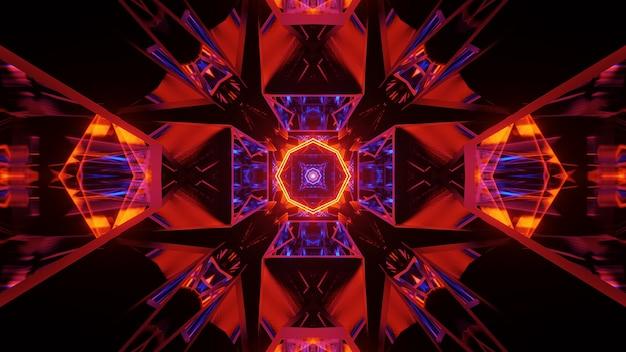 Fond cosmique avec des lumières colorées avec des formes fraîches