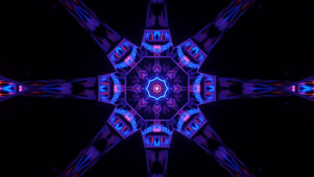 Fond cosmique avec des lumières laser colorées avec des formes fraîches - parfait pour un fond d'écran numérique