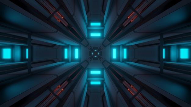 Fond cosmique avec des lumières laser colorées - parfait pour un fond d'écran numérique