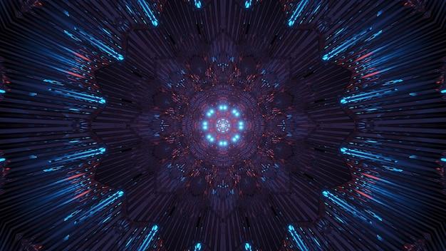 Fond cosmique avec des lumières laser colorées