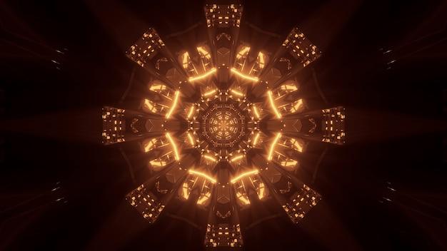 Fond cosmique avec des lumières laser dorées - parfait pour un fond d'écran numérique